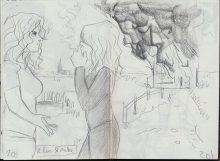 Eerste tekening van Elin en Auke samen