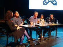 Gesprek over de verfilming van strips met oa Aimée De Jong en Guido Van Driel