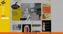 Homepage met uitklapmenu